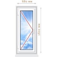 Пластиковое окно 680х1500 из ПВХ профиля VEKA EUROLINE (класс А,