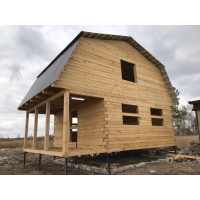 Дом из бруса 6х6х2 с мансардой6х8 Egregor-wood эко