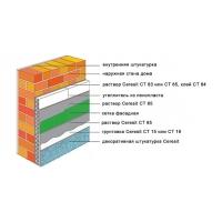 Фасадные штукатурки Церезит. Система утепления Церезит Ceresit