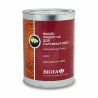 Масло защитное для наружных работ для натурального дерева Biofa