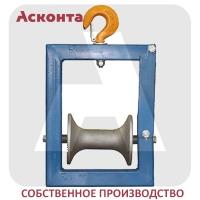 РПК1/120AL Подвесной кабельный ролик на крюке, AL валик