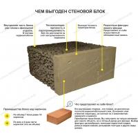 Блоки керамзитовые с фасадом и внутренней отделкой 400х190х400