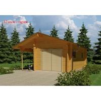 Деревянный гараж из клееного бруса S=29 кв.м Евлашевский ДОК