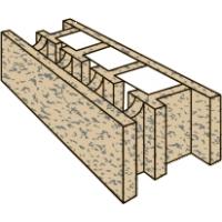 Стеновой строительный Блок Бризолит 1Р (рядовой)