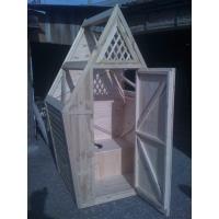 Туалет дачный из дерева в сборе - от производителя.  Доставка.  теремок