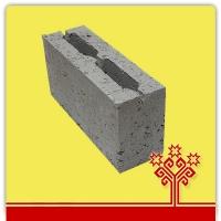 Блок керамзитобетонный перегородочный 390*120*188 мм  КСР-ПР-ПС-39-50-1050