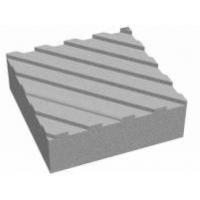 Тактильная тротуарная плитка 30х30х5 с диагональными рифами сера