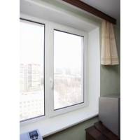 Двухстворчатое окно Grain Prestige 70 мм (Россия) с монтажом