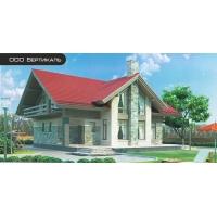 Проект комбинированного дома 54-28 Вертикаль 54-28