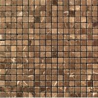 Мозаика из натурального мрамора Сhina Emperador Dark чип 10*10 м