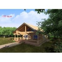 Деревянные дома из клееного бруса S=135 кв.м. Евлашевский ДОК