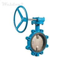 Soft Seated Centric Butterfly Valve, CI GG25, DN100, PN20, Lug T