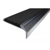 Противоскользящий алюминиевый угол-порог с одной вставкой 1,33 м