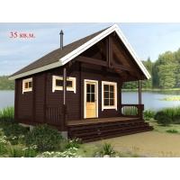 Деревянные дома из клееного бруса площадью 35 кв.м Евлашевский ДОК