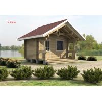 Деревянный дом из клееного бруса площадью 17 кв.м Евлашевский ДОК