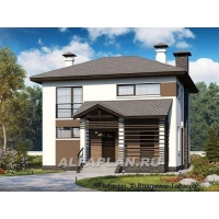 """Двухэтажный дом из кирпича """"Панорама"""" Альфаплан 531A"""