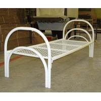 Кровать металлическая белая