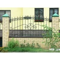 Заборы секционные. Гефест-Барнаул Забор холодная ковка из профильной трубы