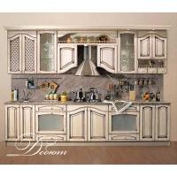 Кухня «Дебют» фасад массив ясеня Гармония-Мебель цена за п.м.