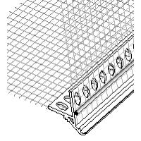 Профиль-капельник ПВХ с армирующей сеткой/2500 мм. Бауком