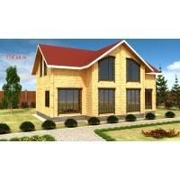 Деревянные дома из клееного бруса S= 158 кв.м. Евлашевский ДОК