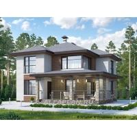 """""""Квантум"""" - современный двухэтажный дом с большой терр Альфаплан 580A"""