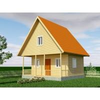 Уютный дачный дом с мансардой. Судай Сруб БД-4