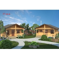 Деревянные дома из клееного бруса S=37 кв.м. Евлашевский ДОК