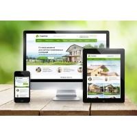Готовый сайт - строительной компании (дома, коттеджи, бани)