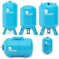 Гидроаккумуляторы 8 - 1000 л Wester WAV WAO баки мембранные
