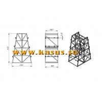 Стеллаж кабельный СКБ 3,5-3 двусторонний