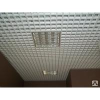 Подвесной потолок Грильято белый/матовый 100*100*27