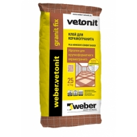 Клей для керамогранита, для полов с подогревом Weber Vetonit Granit fix