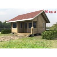 Деревянный дом из клееного бруса S=30 кв.м Евлашевский ДОК