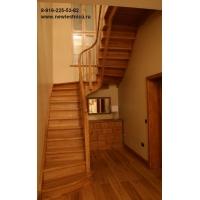 Лестница из дерева на косоурах Новая Лестница
