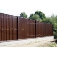 Забор для дачи из профнастила 1800 руб. за м.п. с монтажом