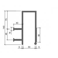Гидроизоляционная шпонка АКВАСТОП ДЗС-140/50-2/40 (ПВХ-П)