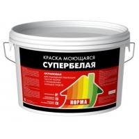 Краска ВД-АК моющаяся супербелая, 15 кг Ярославский колорит