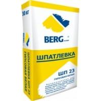 Шпатлёвка ШП23 гипсовая белая 30кг BergHome