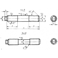 Шпильки для фланцевых соединений по ГОСТ 10494-84
