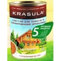 Krasula состав для защиты и тонирования древесины НОРТ