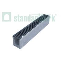 Лоток BetoMax Drive ЛВ-10.16.21-Б бетонный с чугунной решеткой Стандартпарк