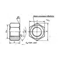 Гайки для фланцевых соединений по Гост 9064-75