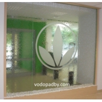 Водопад по стеклу (аквапанель)