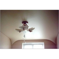 Сатиновый белый натяжной потолок (Франция)