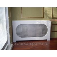 Экран для радиатора - короб для батарей из ротангового полотна