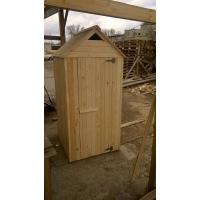 """Туалет Дачный деревянный  """"Простой"""" с крышей двускатной"""
