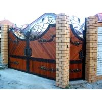 Ворота распашные, ворота откаточн, въездные кованые ворота. Гефест-Барнаул Художественная ковка