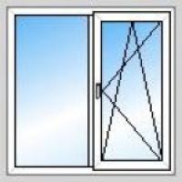 Окно двухстворчатое