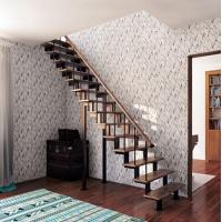 Лестницы на металлическом каркасе СВАРОГ на ломанных косоурах